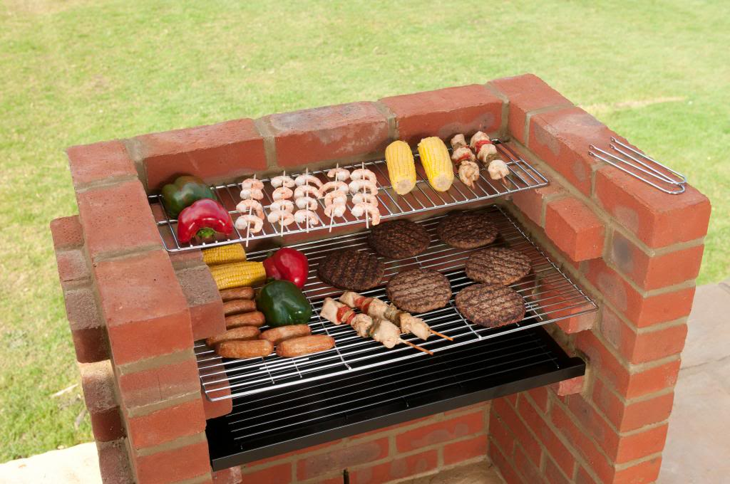 Build Your Own Bbq Kit With Chrome Cooking Grill