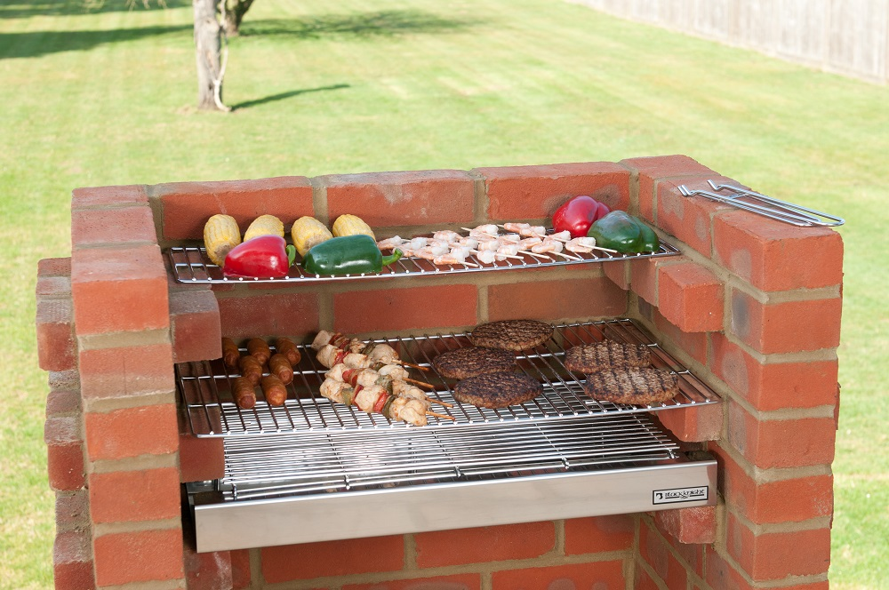 Bkb501 Deluxe 100 Stainless Steel Brick Bbq Kit With