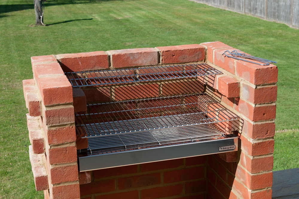 bkb501 deluxe 100 stainless steel brick bbq kit with warming rack. Black Bedroom Furniture Sets. Home Design Ideas