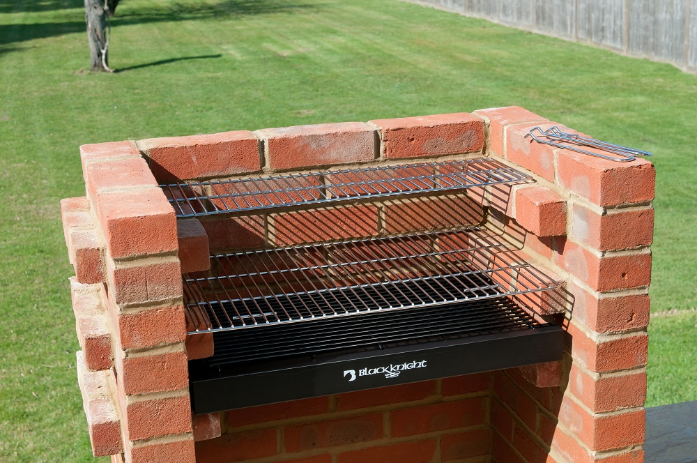 bkb404 brick bbq kit with stainless steel cooking grill warming rack and bag. Black Bedroom Furniture Sets. Home Design Ideas