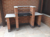 Preparation areas and two colour bricks make this look great